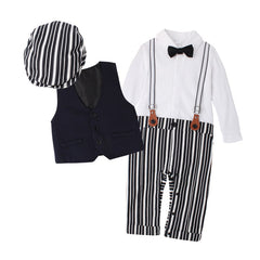Newborn Boy Clothing Sets Top Quality Cotton Gentleman Fashion