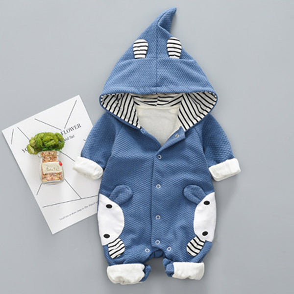 Autumn Baby Rompers Cute Cartoon Rabbit Toddler Infant Jumpsuit