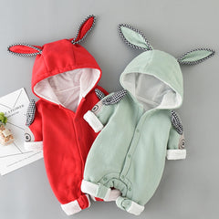 Rabbit Ears Hooded Baby Rompers For Babies Boys Girls Clothes