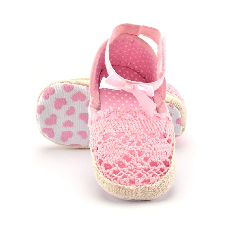Hand-made Baby Girls Sandals Infant Toddler Princess Baby Girls