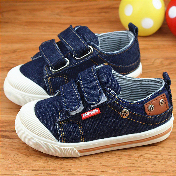 Kids Sneakers Jeans Canvas Boys Shoes