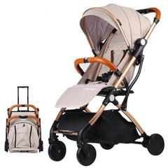 Lightweight Baby Stroller Portable Folding Baby Carriage For Newborns Pull Rod Pushchair