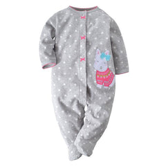 baby spring baby Rompers soft warm fleece Baby Jumpsuit