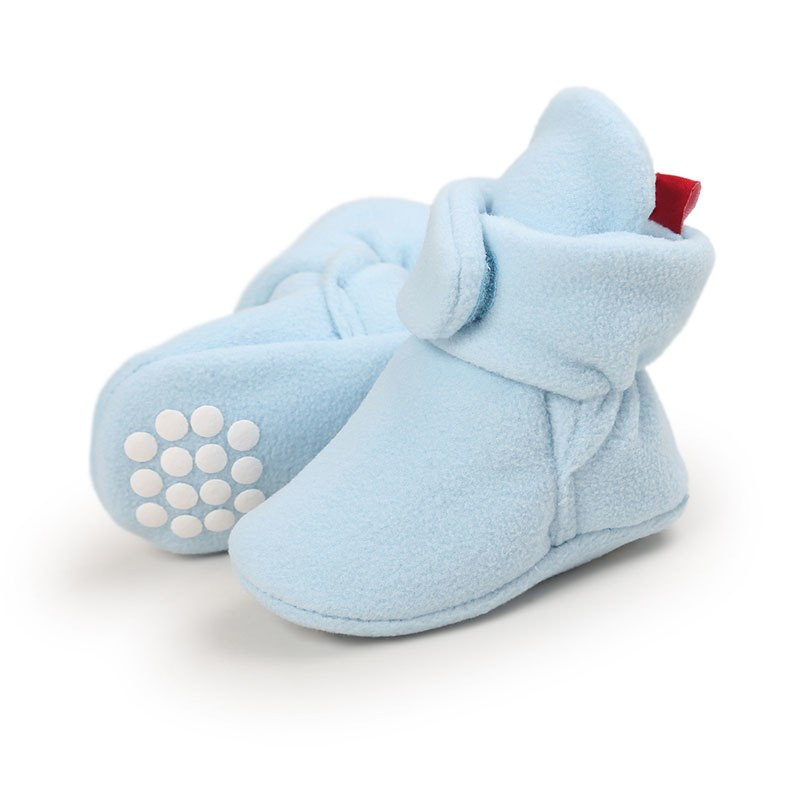 Newborn Baby Boy Shoes Non-Slip Unisex Winter Warm Baby Booties