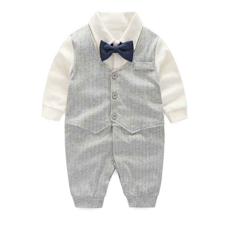 Baby boys wedding party tuxedo suit set gentleman shower