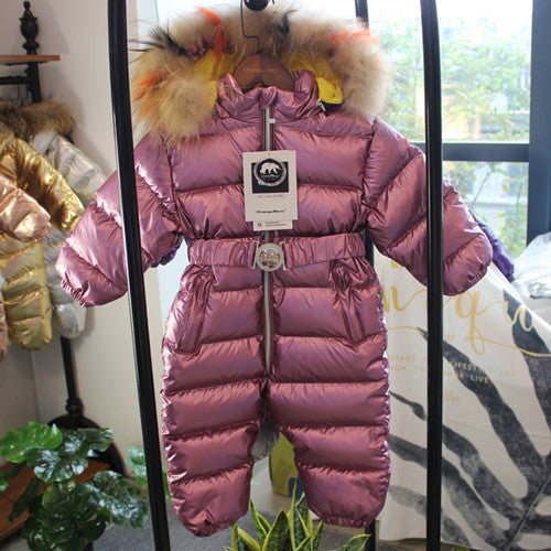 49f03d5f0 Jumpsuit infant girls winter coat brand jacket, thicken baby snowsuit