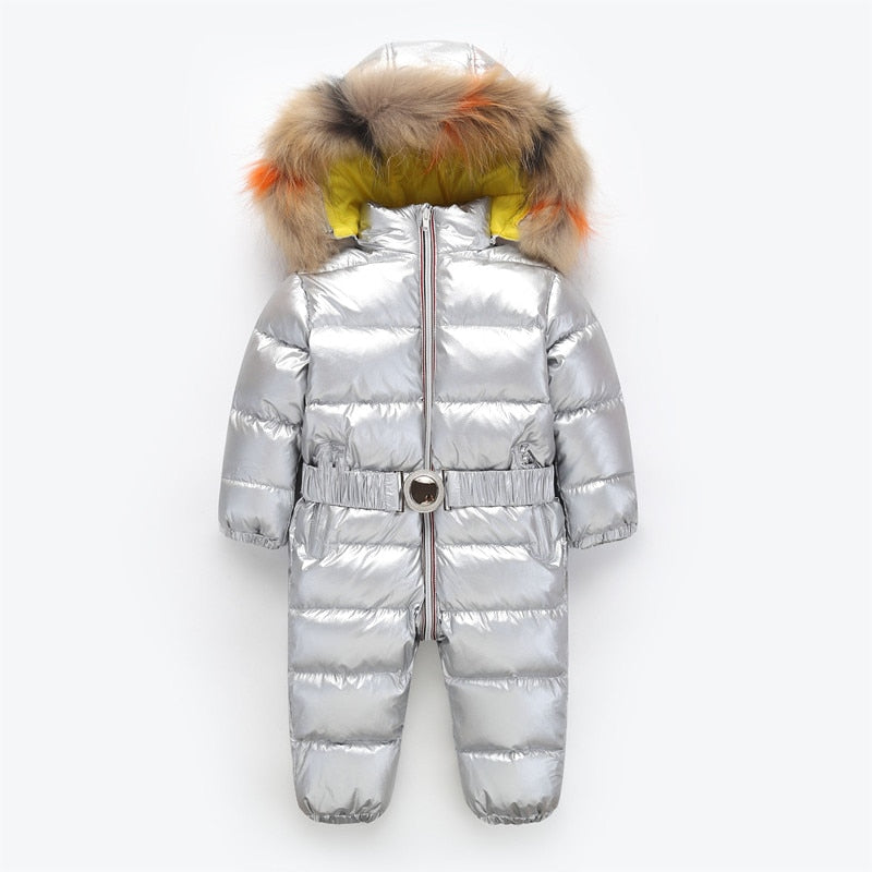 Jumpsuit baby winter coat brand jacket, thicken snowsuit