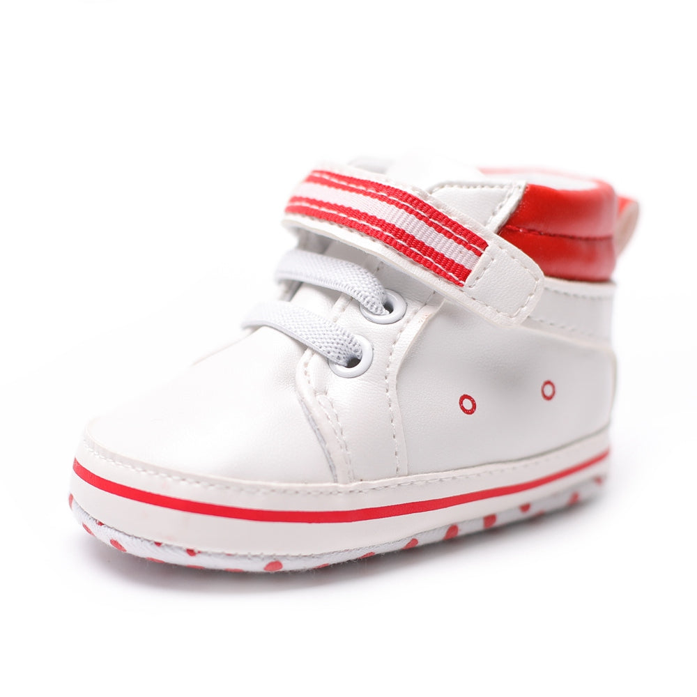 PU Leather Newborn Baby Girl Shoes Polka Dot First Walkers