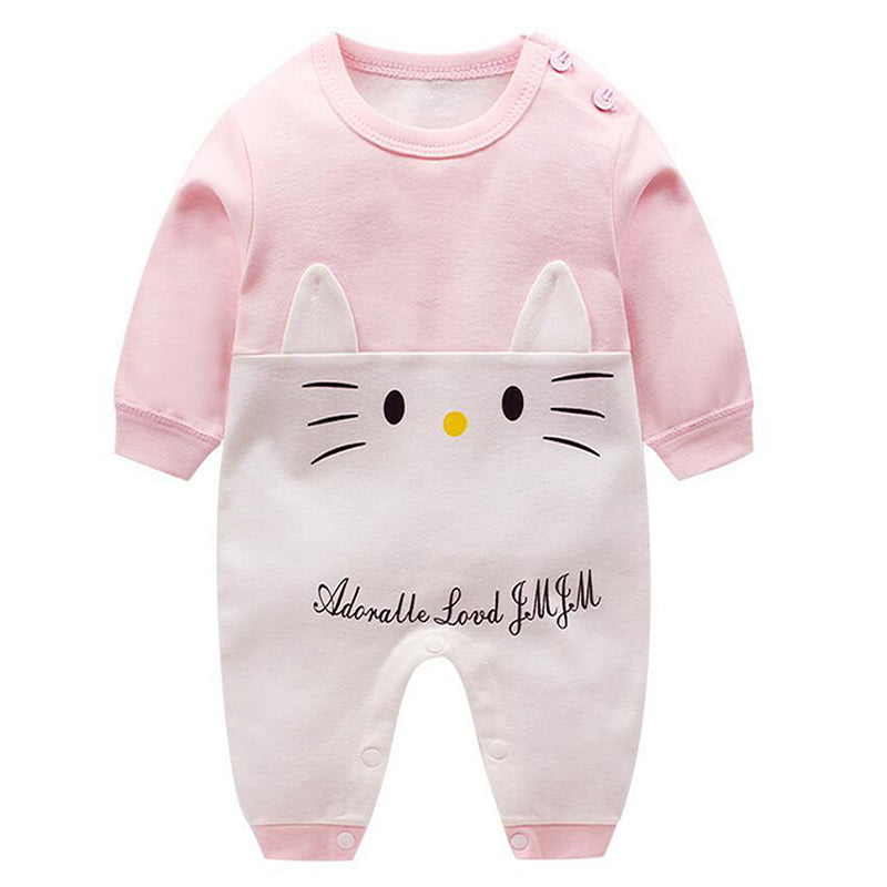 Romper Long Sleeves Baby Girl Clothes Cartoon Newborn Costume Cotton