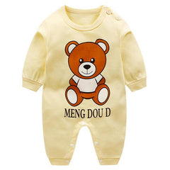 Spring Baby Romper Long Sleeves Baby Girl Clothes Cartoon Newborn Boys Clothing