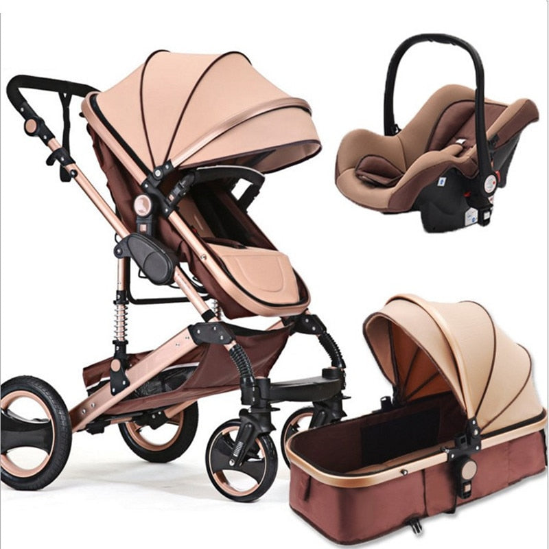 3 in 1  stroller 0-3years Multi-color choices Natural Rubber Four Wheel