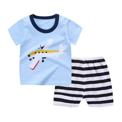 Summer Clothes For Baby Boys Duck T-shirt + Shorts 2pcs Casual Clothing Suit Outfits