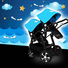 Twins Stroller For Newborns Baby Carriage For Twins Prams Cute Ladybug