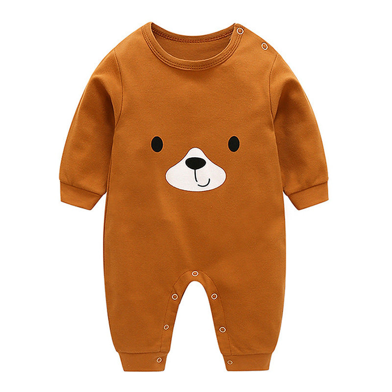 Baby Long-Sleeved Rompers Cartoon Infant Jumpsuit