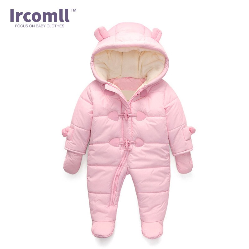 Rompers Winter clothes Newborn Baby Boy Girl Romper Jumpsuit Hooded  Kid Outerwear