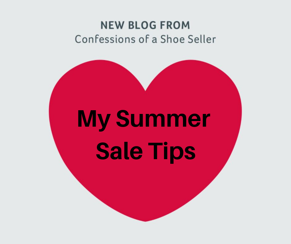 Confessions of a shoe seller - It's Summer sale time