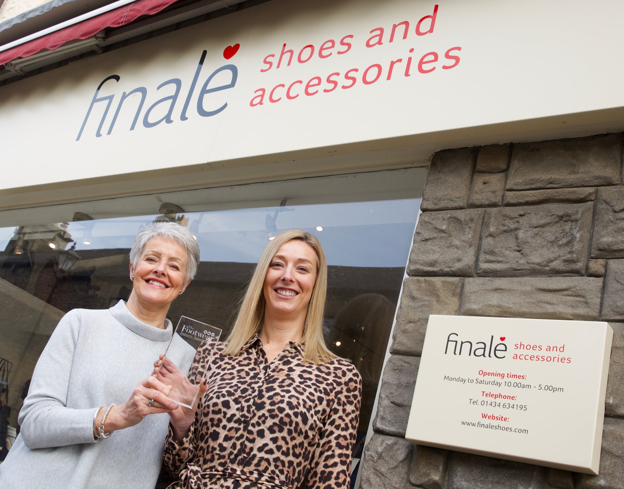 Finale are award winners! Fashion Independent Footwear Retailer of the Year 2019