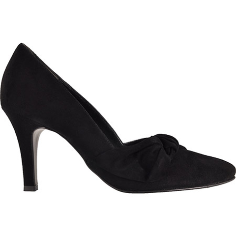 Paul Green Black Bow Detail Shoe - Black