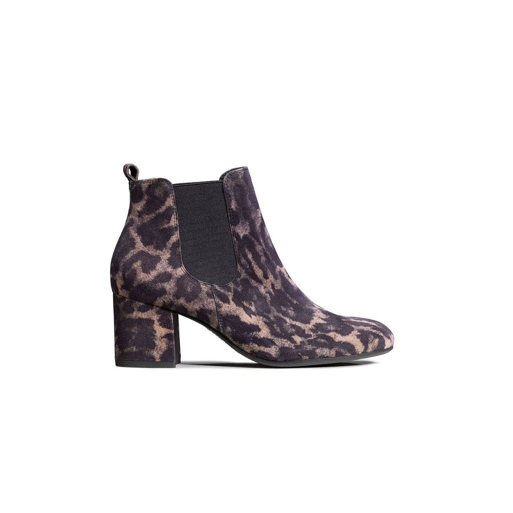 Paul Green Leopard Print Ankle Boot 8011