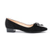 Peter Kaiser Black Suede with Bow Detail Shoe - Black