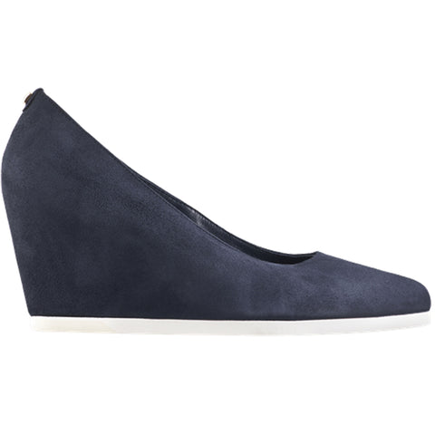 Hogl Navy Suede Wedge Shoe - Navy
