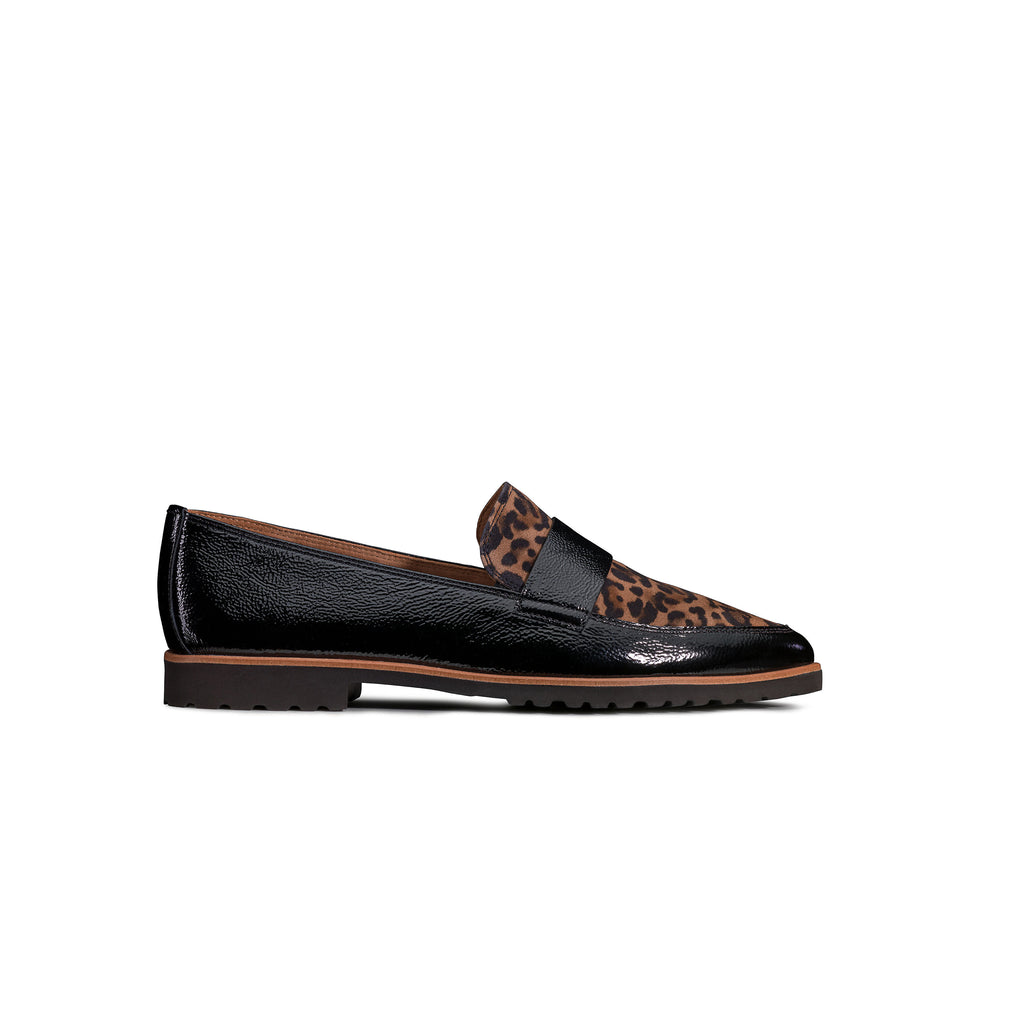 Paul Green Leopard Print Loafer 2551