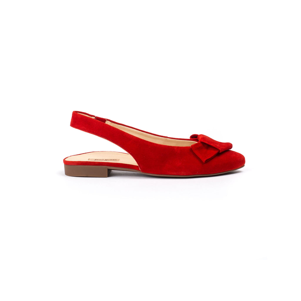 Paul Green Sling Back Red Bow Shoe