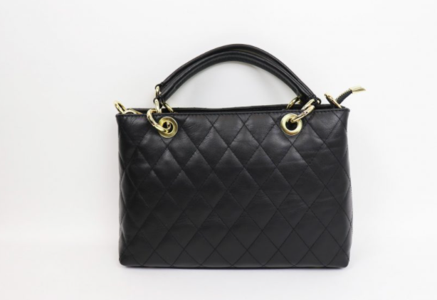Leather Quilted Handbag - Small F742