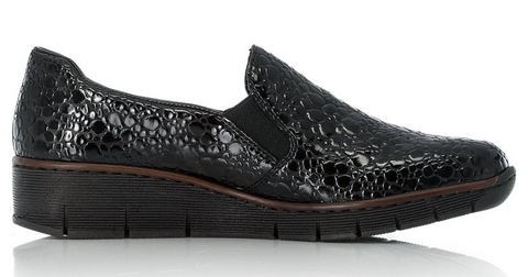 Rieker Black Slip On Shoe