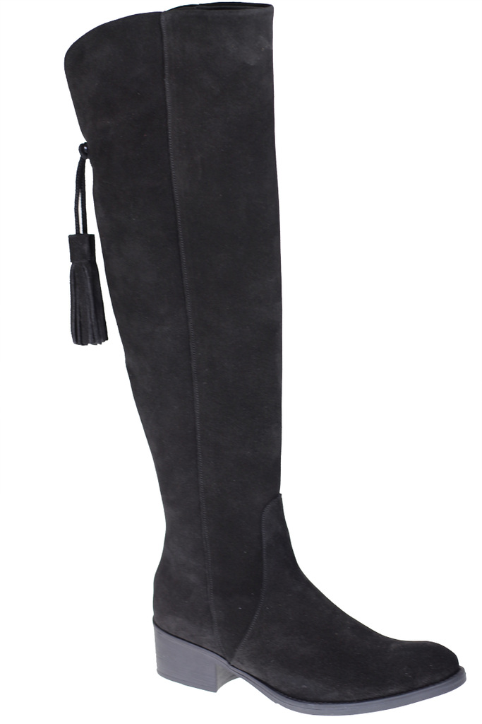 Toni Pons Black Tassel Detail High Leg Boot - Black