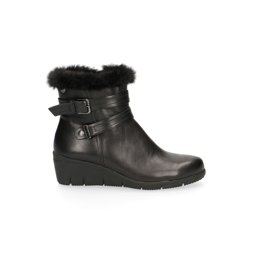 Caprice Faux Fur Topped Wedge Ankle Boot