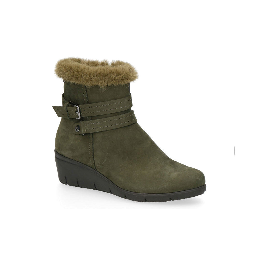 d4147ad412b Caprice Faux Fur Topped Wedge Ankle Boot