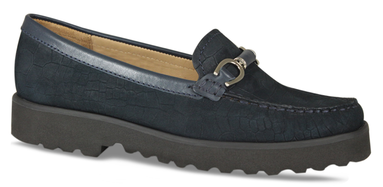 Lisa Kay Navy Alice Classic Loafer - Navy