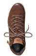 Paul Green High Top Trainer - Cigar Brown