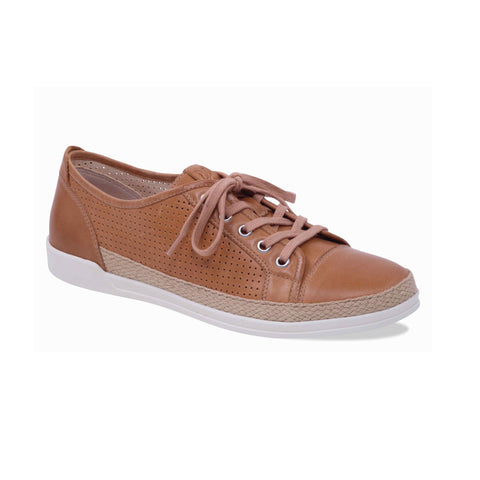 Caprice Tan Lace Up Shoe