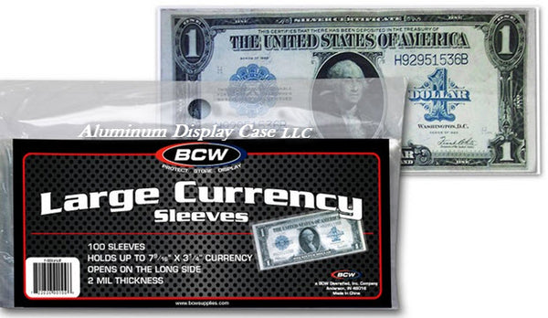 large currency sleeves