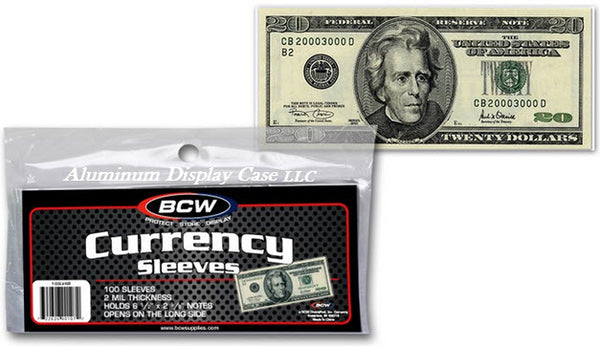 bcw currency sleeves