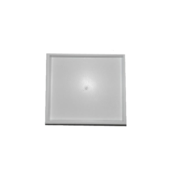 "White Stackable Plastic Display Tray 8x7x1"" Various Sizes"