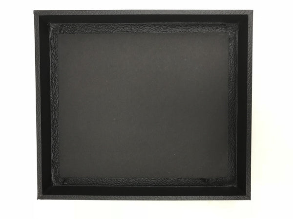 "Leatherette Black Wood Display Tray 8x7x1"" Various Sizes"
