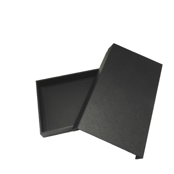 Black Leatherette Display Tray With Attached Magnetic Lid 14x8x2""