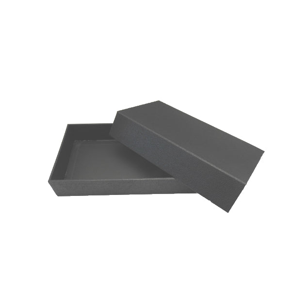 Black Leatherette Display Tray With Attached Magnetic Lid 14x8x3""
