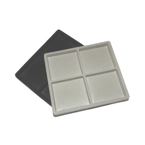 "Flocked Half Tray Liners For 8x7"" Cases 4 Squares"