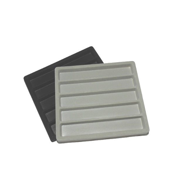 "Flocked Half Tray Liners For 8x7"" Cases 5 Slots"