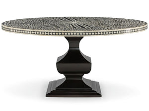 Leon Bone Inlay Round Dining Table