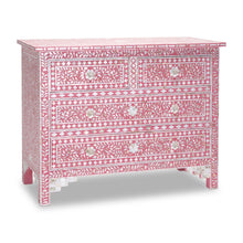 Load image into Gallery viewer, Bella Mother of Pearl Inlay Chest of Drawer with 4 Drawers