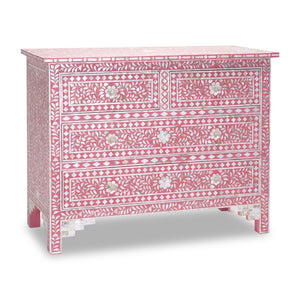 Bella Mother of Pearl Inlay Chest of Drawer with 4 Drawers