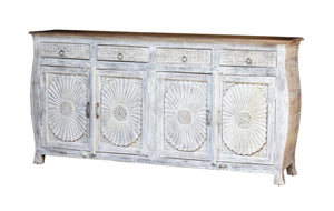Molly Hand Carved Solid Indian Wood Sideboard_Buffet_Dresser