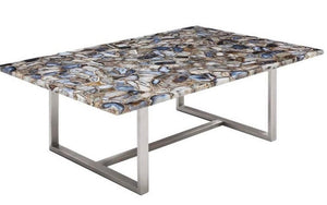 Taylor_ Dining Table with Agate Stone Top