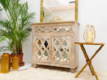 Load image into Gallery viewer, Jenn_Gold Leaf Branches Round Accent Table with Mirror Top