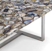 Load image into Gallery viewer, Taylor_ Dining Table with Agate Stone Top